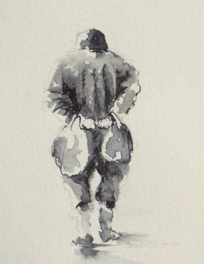 Homme aux sacs